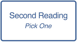 Second Readings List - Pick One