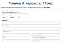 Arrangement Form